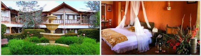 Detalle de las habitaciones y jardines del Eco Spa Hotel Boutique Casa Blanca. Fotos: www.ecospaluxuryhotels.com