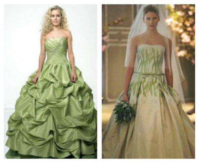 Vestidos de novia verde