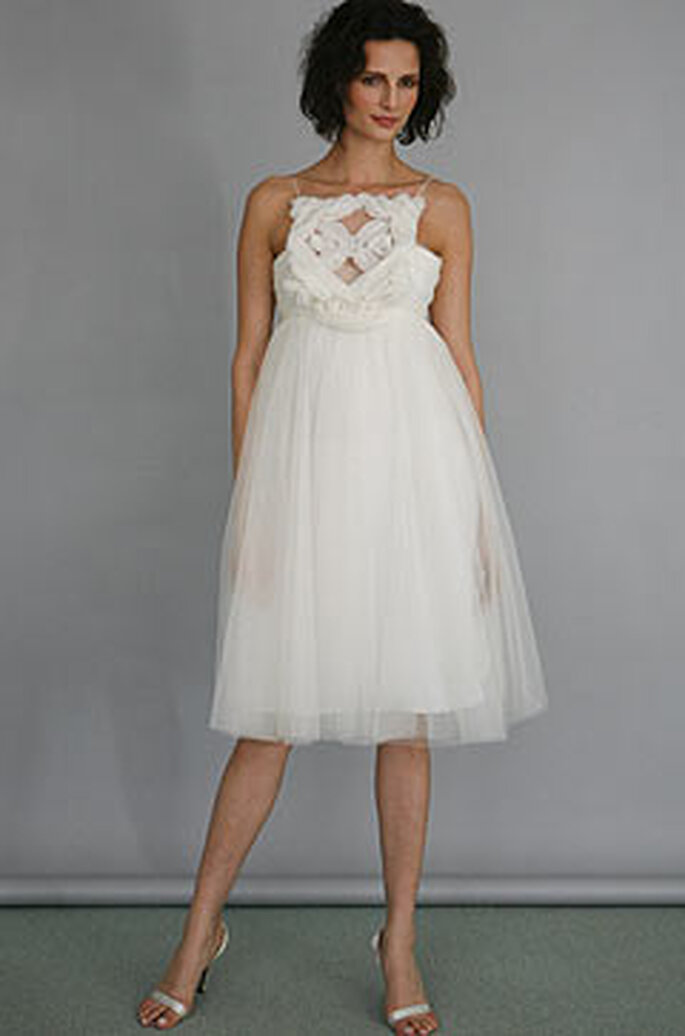 Vestido de novia corto de Ángel Sanchez