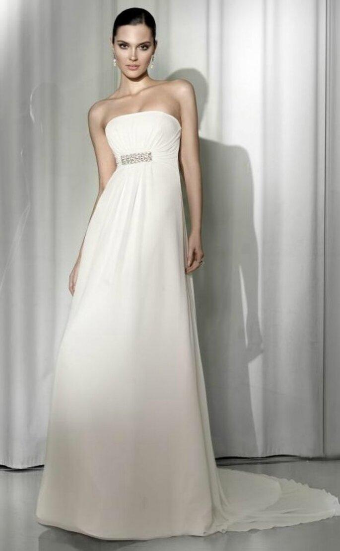 Vestido de novia corte imperio, Pepe Botella 2012