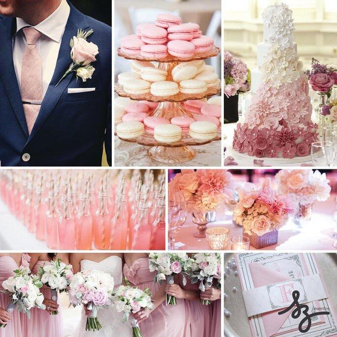 Blush pink, el color más romántico para tu boda