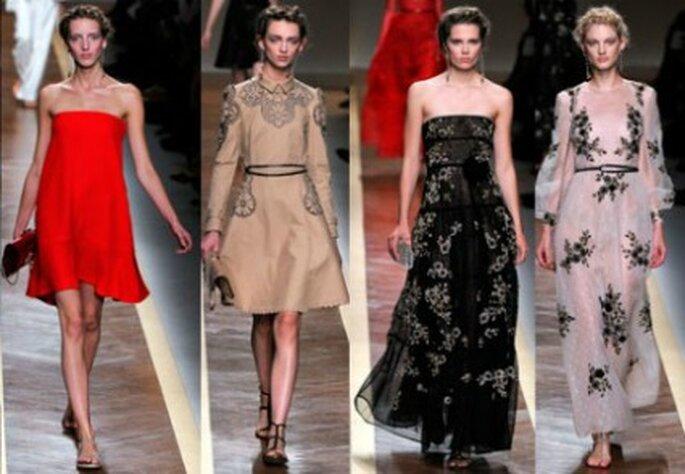 Un abito Valentino per sedurre senza mostrare troppo. Foto www.verycool.it