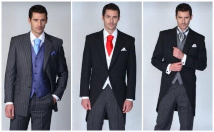 Tres elegantes trajes de novio de la firma Rubinstein