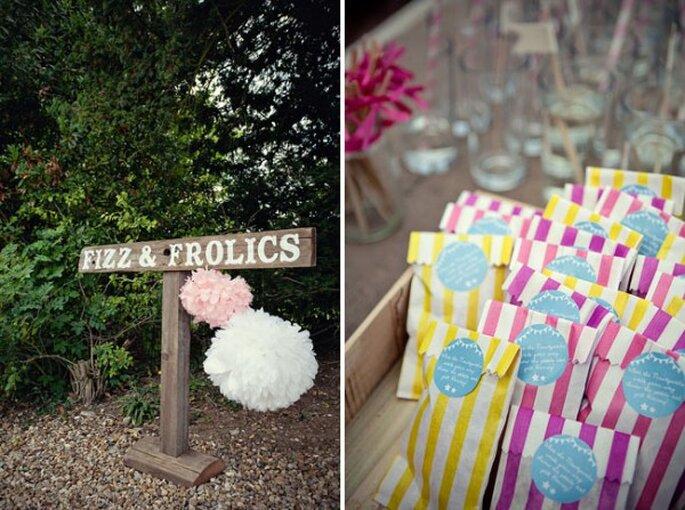Decoraciones de papel para tu boda - Foto Marianne Taylor Photography