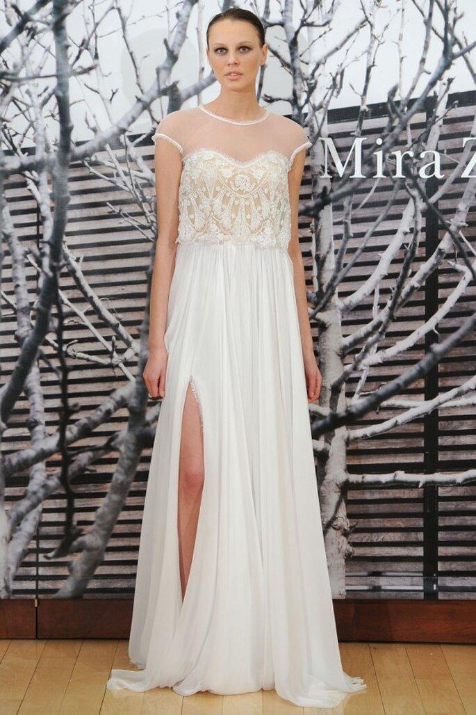 Robe de mariée 2015 aux inspirations gréco-romaines - Photo Mira Zwillinger