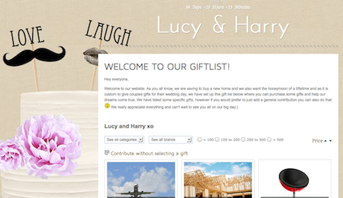 You can personalise your site to your hearts delight, with all kinds ...