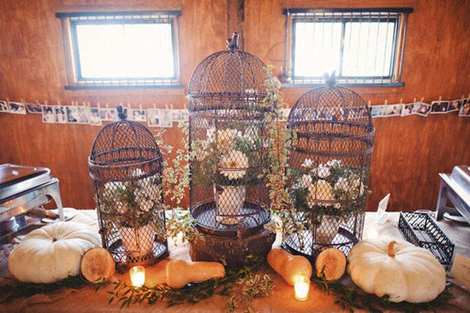 Mesa de bodas en Día de Acción de Gracias. Foto de Sam Hurd Photography