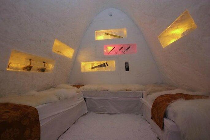 Flitterwochen auf die andere Art: im Eishotel!