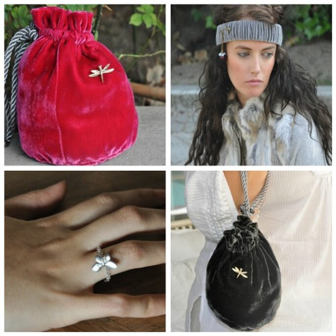Bolsos, anillos y cintas Apodemia