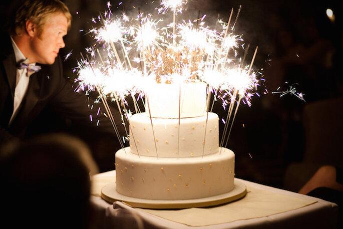 Luces de bengala en tu boda - Foto Jasmine Star Photography