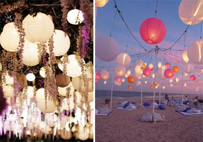 Lamparas de luz con un toque romántico: Foto: Globos de Luz