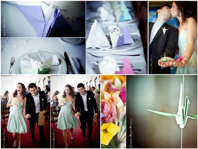 Flores em Origami - fotos de Camilla Melo