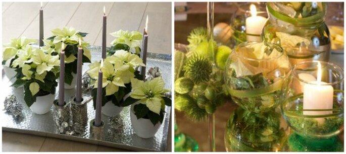 Navidad boda decoración Foto: bodas y eventos