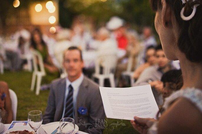 Pas question d'improviser un discours de mariage - Photo : Fran Russo