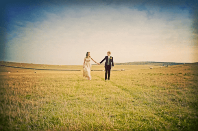 Paysage parfait pour des photos de mariage vintage - Photo Cotton Candy Weddings