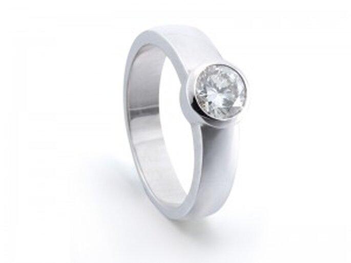 Solitario - Modelo Rusa Liso de Diamantísimo