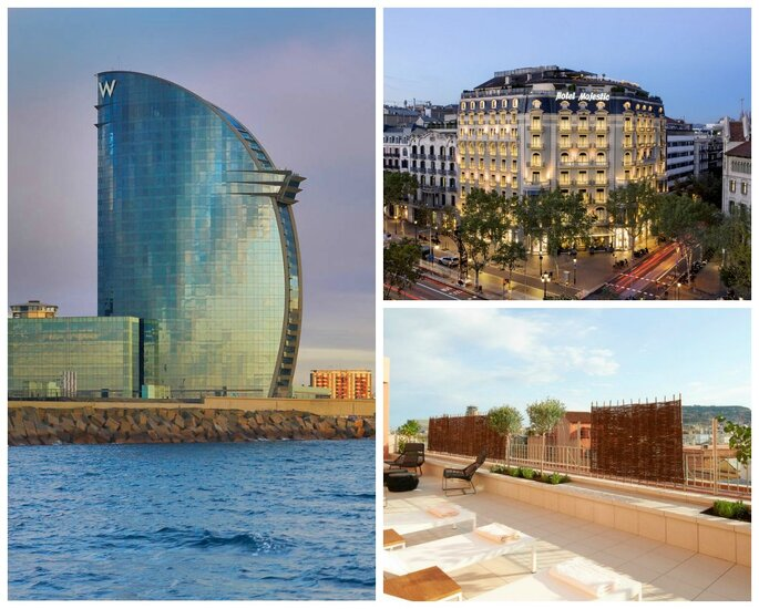 Hotel W Barcelona, Majestic Hotel & Spa Barcelona y Le Méridien BCN