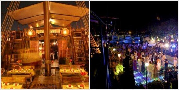 Imagina tu celebración de bodas en este galeón. Fotos: Facebook Galeón Bucanero
