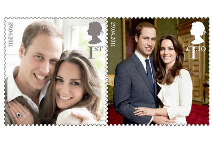 Os selos oficiais do casamento de Guilherme de Inglaterra e Kate Middleton