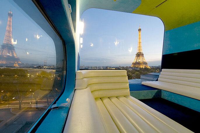 Vue de Paris depuis l'Hotel Everland. Photo: www.everland.ch