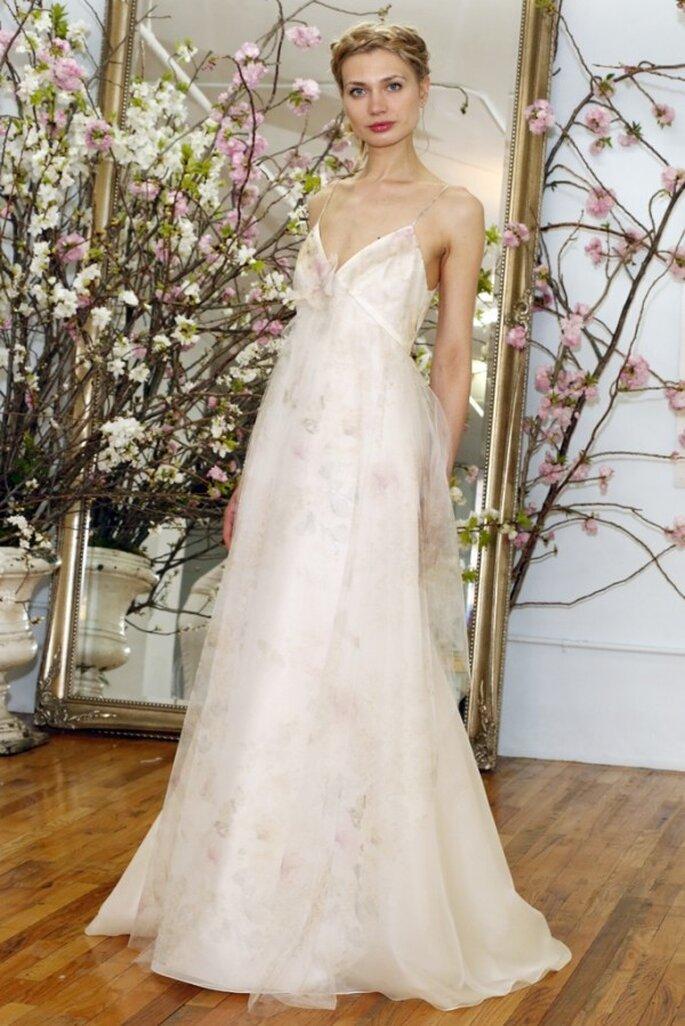 Свадебное платье на бретельках от Elizabeth Fillmore весна 2015