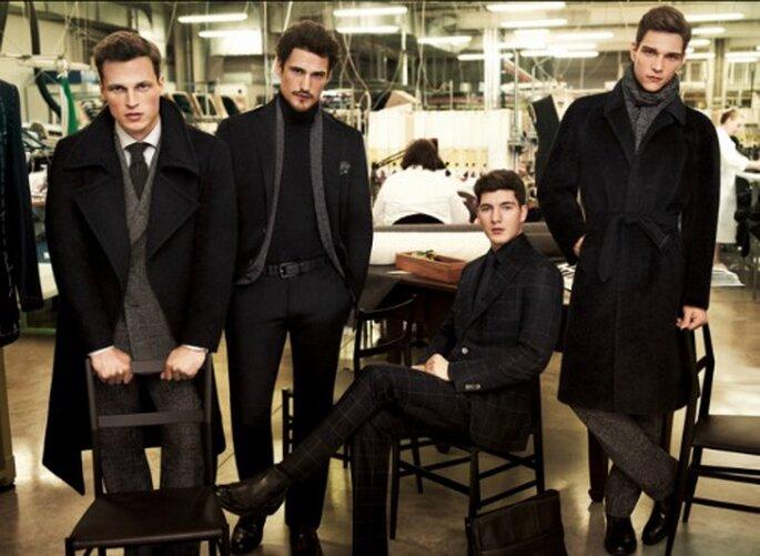 Modelli di abiti da uomo di Corneliani: sofisticati e di gran classe. Foto: Corneliani