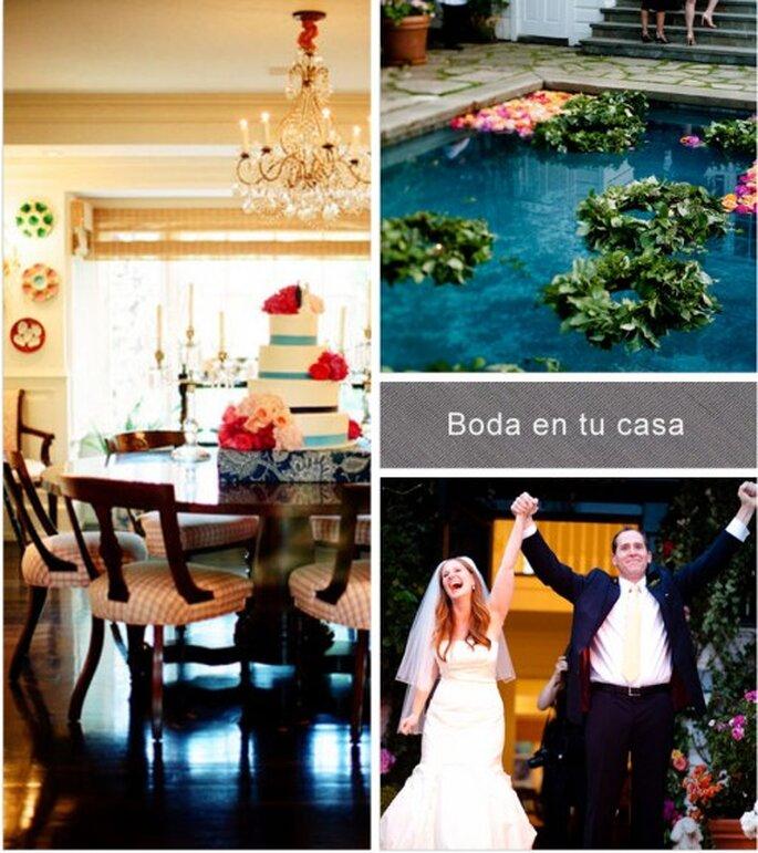 Cómo hacer una boda en mi casa. Collage Stylemepretty