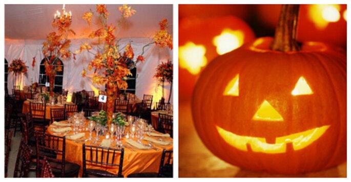 Crea el ambiente adecuado para tu gran noche cuidando los detalles al decorar tu salón de ceremonias. Foto: www.allhallowsdesign.blogspot.com