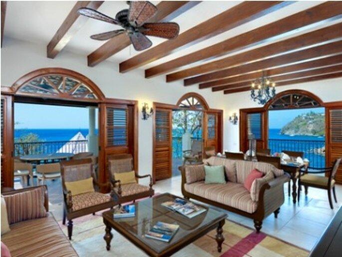 Salon suite villa Cap Maison