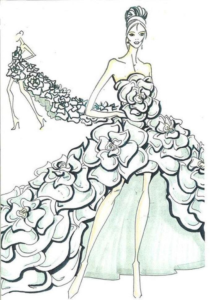 VOSGOS fue uno de los vestidos de novia más impresionantes del desfile Pronovias 2013. Foto: Pronovias