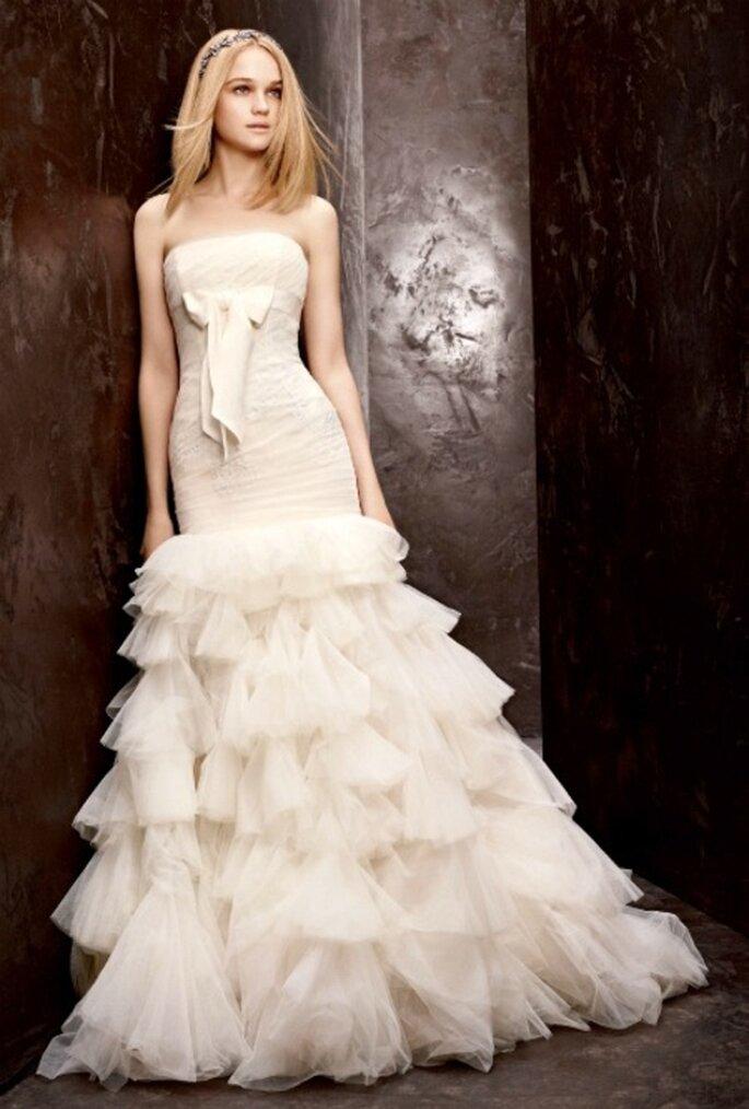 Vestido de novia económico estilo trompeta de Vera Wang - Foto David's Bridal