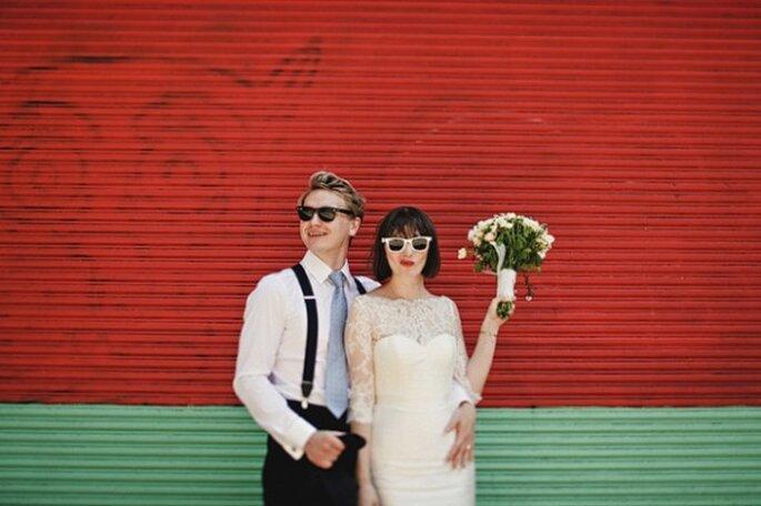Cómo peinar mi fleco el día de la boda - Foto Julian Beattie