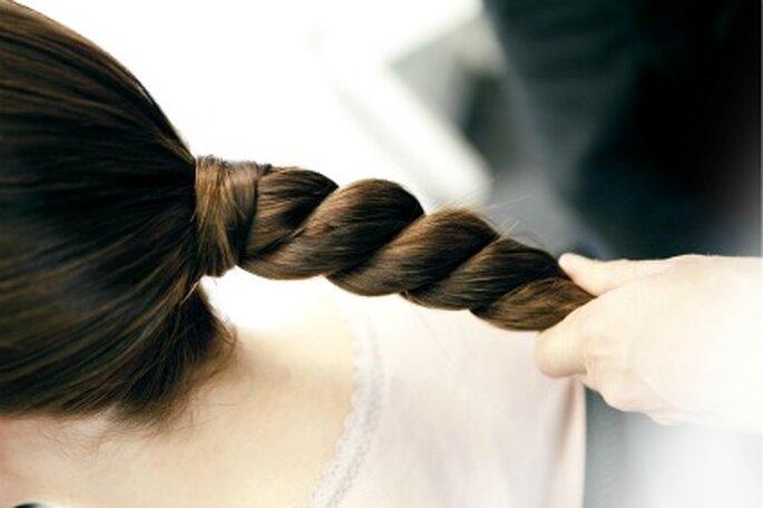Otra modalidad de trenza para los peinados de novia 2012 - Art Lab