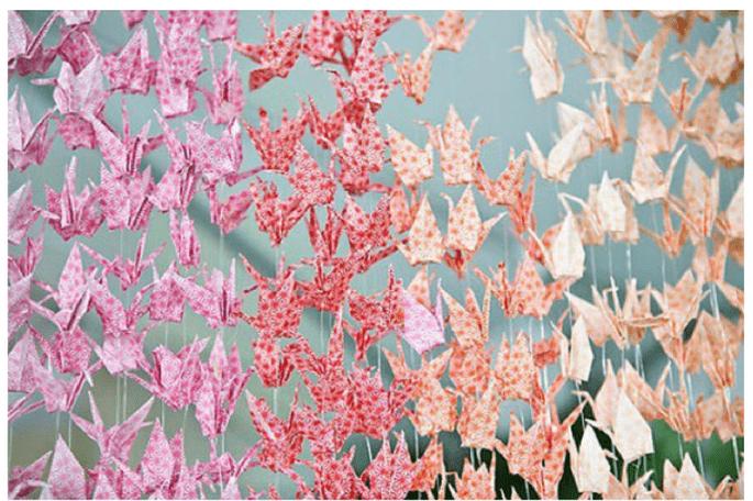 Decoraciones de papel para tu boda - Foto Jenny Ebert Photography