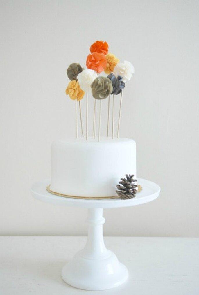 Un gâteau de mariage accessoirisé !