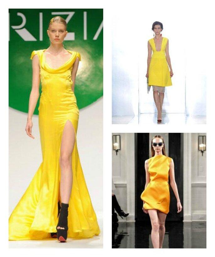 Ancora proposte dalle passerelle, dove impazza lo yellow-style! Krizia, Marni e Victoria Beckham