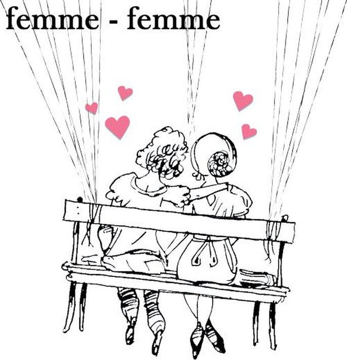 Affiche à empreintes Marie Ben - Version femmes