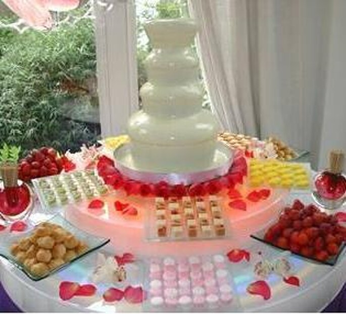 cascada de chocolate para bodas