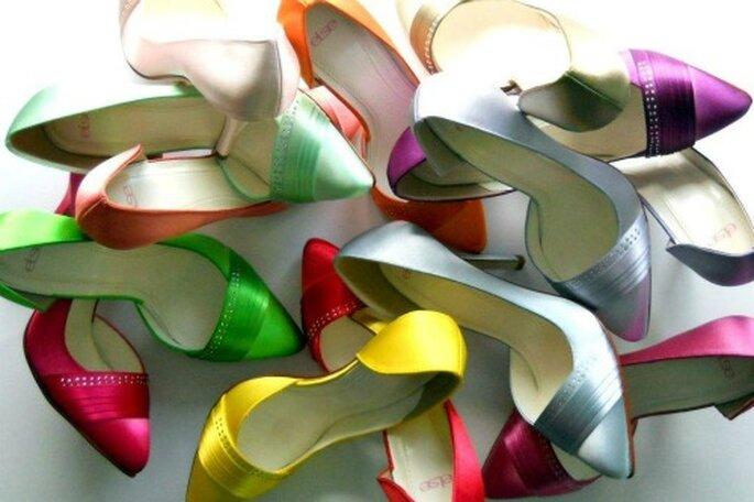 Chaussures de mariée, on joue avec les couleurs ! Crédit photo : Couleur chaussure