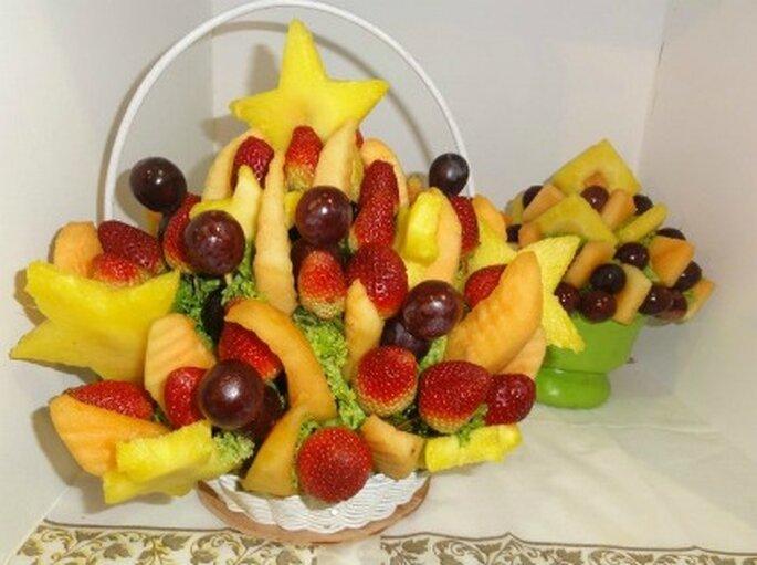 Formas llamativas con trozos de fruta     Foto de Enfrutados