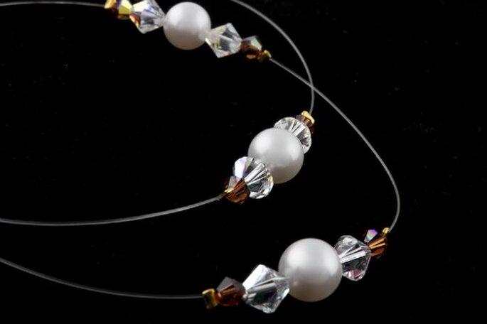 Les perles ressortent merveilleusement sur ce collier Touche Nacrée - Photo : Poésie des Perles