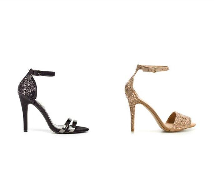 Sandali con cinturino alla caviglia e decorazioni. Foto www.zara.com