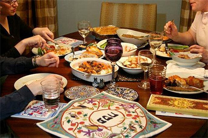 El banquete en las bodas judías está regido por las normas del 'Levítico'. Foto: Concha Molina