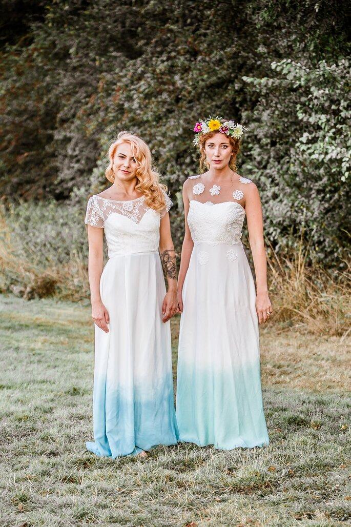 Vestidos de novia tie dye. Credits: Lucy Can't Dance