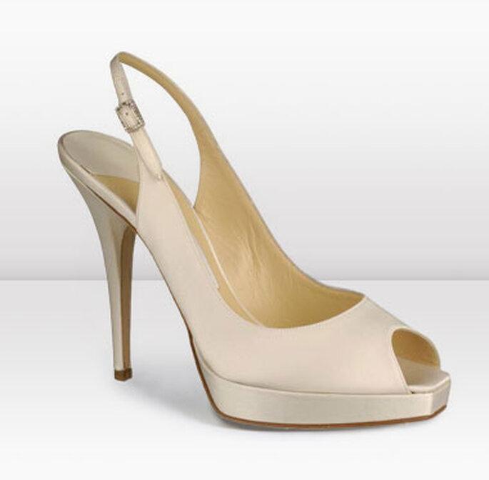 Clue, sandalo peep toe con piattaforma, in satin