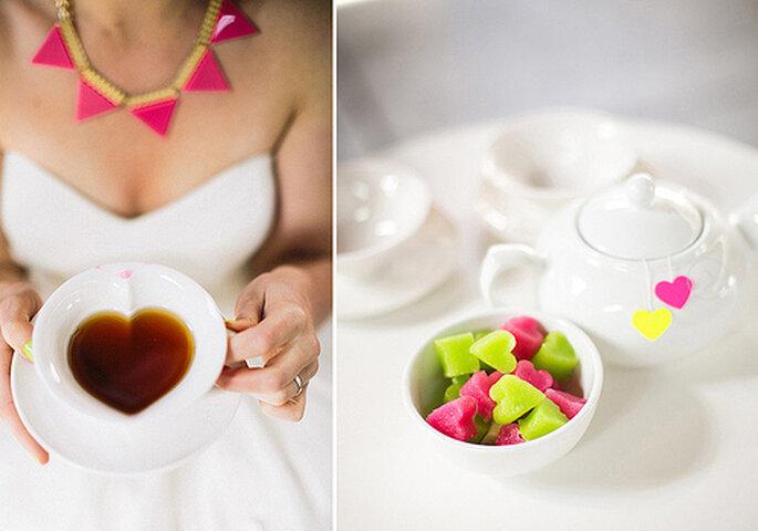 El primer lugar donde sacar a relucir los colores de neón: en la mesa de dulces. Fotos de Cathrin d'Entremont