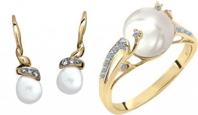 Joyas, los accesorios que te harán brillar en una boda. Foto. Perlas,Cristal Joyas.