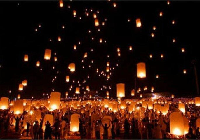 Les lanternes célestes blufferont les invités de votre mariage - Photo : Lanterne Mariage