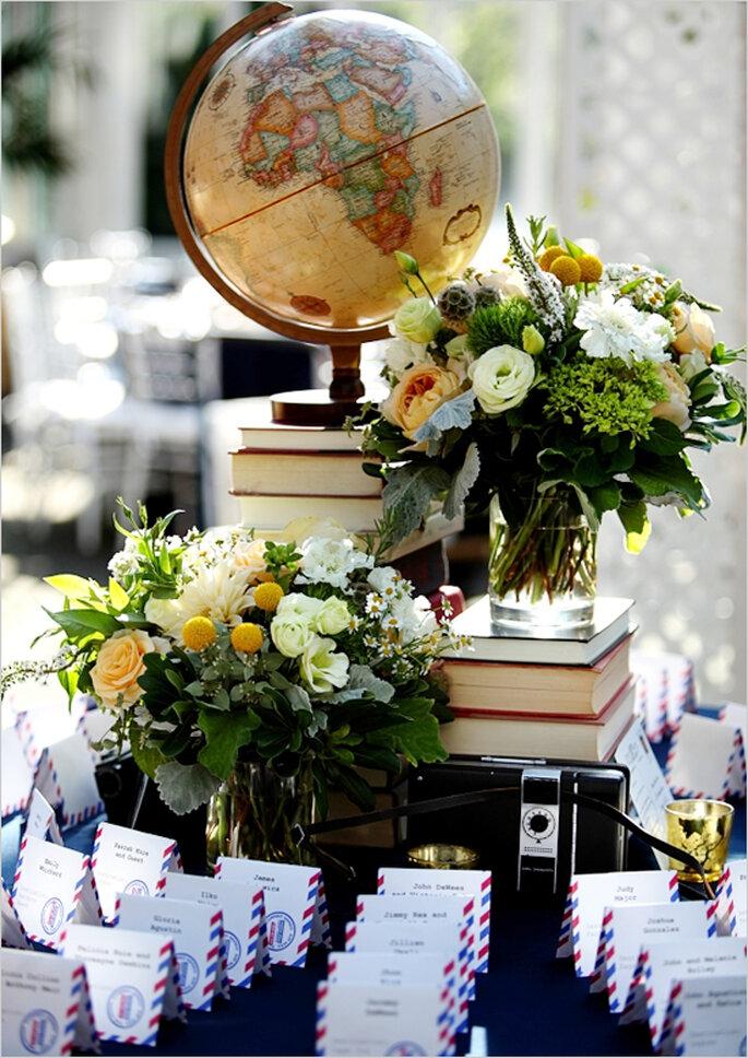 Decoración de boda inspirada en viajes - Foto Ohana Photographers