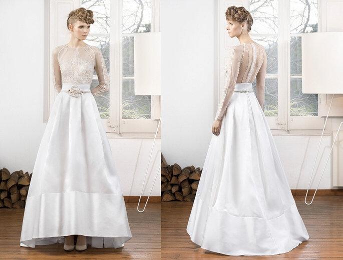 Vestidos de novia con transparencias